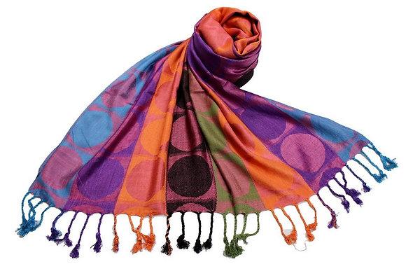 Étole Viscose Rond Multicolore  N10