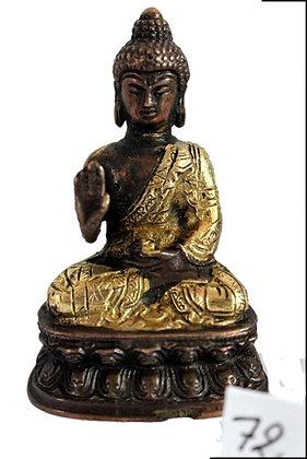 Statue Bouddha Amoghasiddhi assis Bronze N72