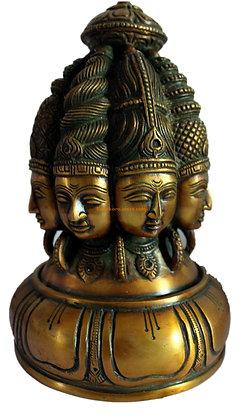 Statue Shiva Ashta-murti 8 formes Bronze N100
