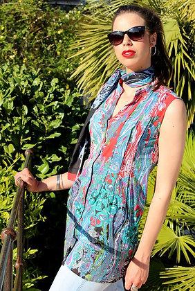 Tunique Sans-Manche - Cachemire Rouge - 12025TSM