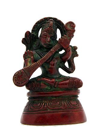 Statue Saraswati Bronze N260