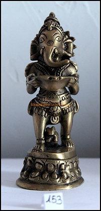 Statue Ganesh debout Bronze N153
