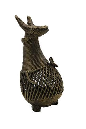 Statue Kangourou Dhokra Bronze N409