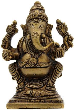Statue Ganesh assis Bronze N 220
