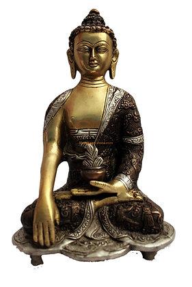 Statue Bouddha Akshobhya Bronze N49
