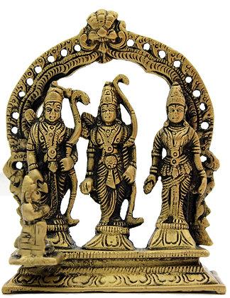 Statue  Râma Sitâ Lakshmana, Hanuman Bronze N209