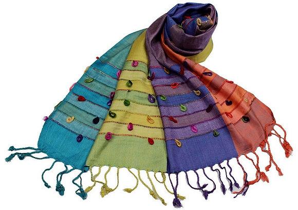 Étole Viscose Multicolor Boucles coton  N8