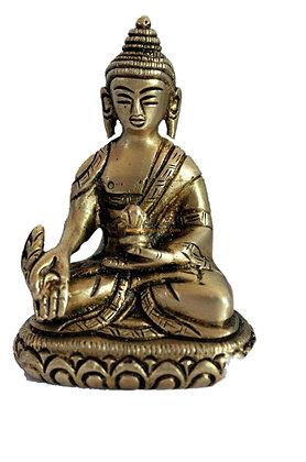 Statue Bouddha de la médecine Bhaishajyaguru Bronze N66