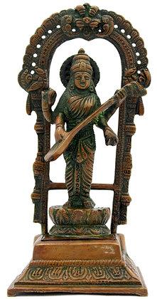 Statue Saraswati Bronze N253