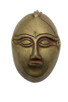 Objet Boite Visage Bronze N403