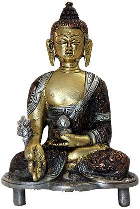 Statue Bouddha de la médecine Bhaishajyaguru  Bronze N189