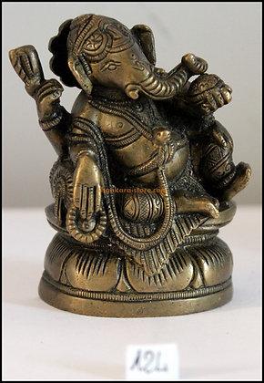 Statue Ganesh assis Bronze N124