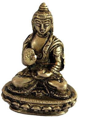 Statue Bouddha Amoghasiddhi Bronze N77