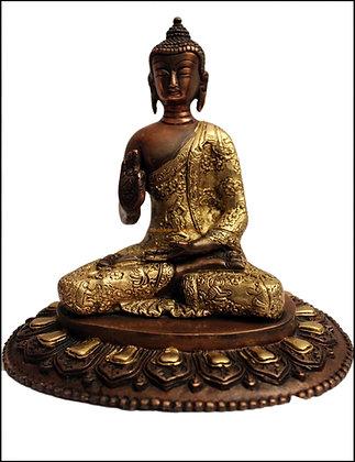 Statue Bouddha Shakyamuni/Amoghasiddhi Bronze N57