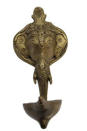 Tete Elephant Lampe huile murale Bronze N467