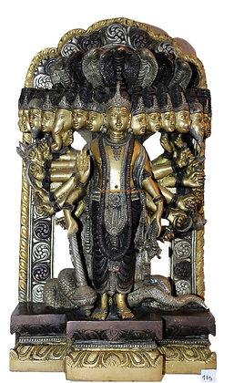 Statue Vishnu Vishvarupa Bronze N175