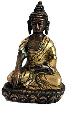 Statue Bouddha Akshobhya assis Bronze N67