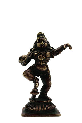 Statue Krishna Makhan-chor Bronze N349