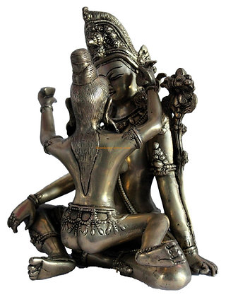 Statue Shiva/Shakti Couple tantrique Bronze N174