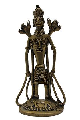 Statue Figurine Shiva Dhokra Bronze N387