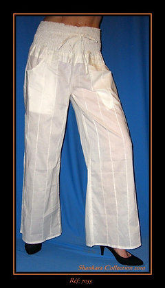 Pantalon - Blanc - 7055PT