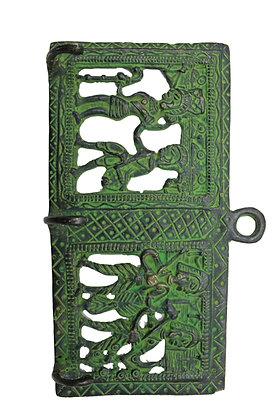 Déco murale 3 crochets Dhokra Bronze N448