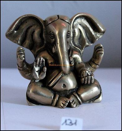 Statue Ganesh Ganapati assis Bronze N131