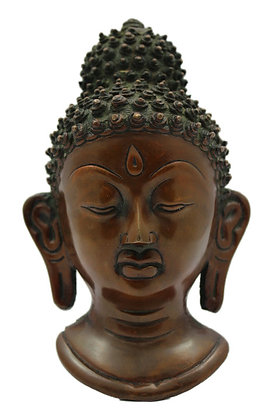 Statue Tête Bouddha Shakyamuni  Bronze N315
