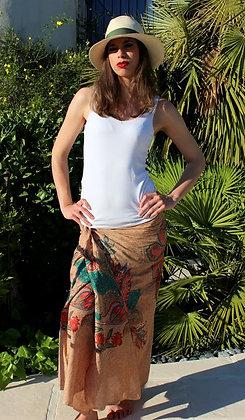 Paréo sarong Echarpe - Lotus Beige - 12046P