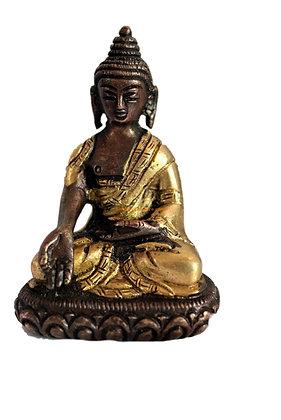 Statue Bouddha Ratnasambhava assis Bronze N68