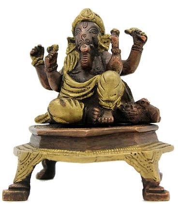 Statue Ganesh assis Bronze N 268