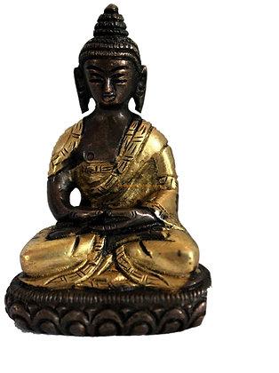 Statue Bouddha Amitabha assis Bronze N70