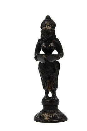 Statue Lampe à huile Deepa Lakshmi Bronze N350