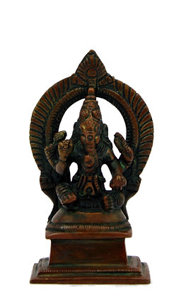 Statue Ganesh assis Bronze N 285