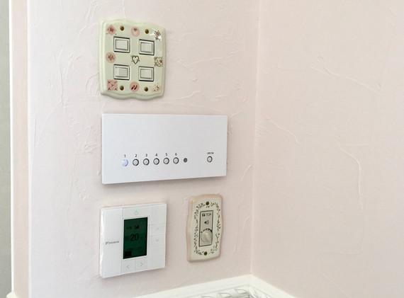 新築 照明のスイッチ