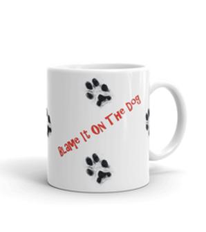 Paw Prints White Glossy Mug  (11 oz)