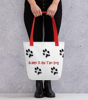 Dog Paw Prints Tote Bag