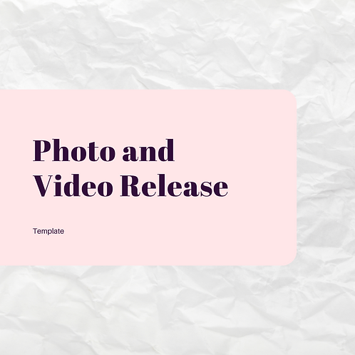 Photo and Video Release
