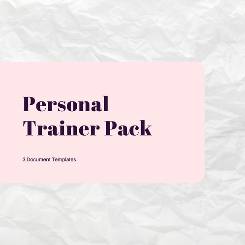 Personal Trainer Pack