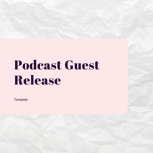 Podcast Guest Release