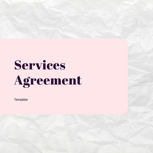 Agreement for Services
