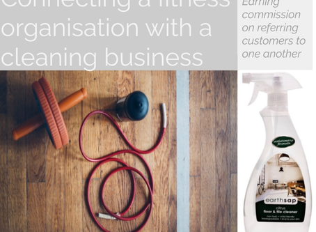 Connecting a fitness organisation with a cleaning business.