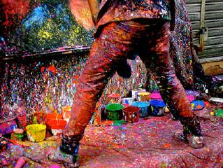 La explosión de pintura
