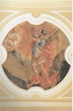 chiesa - affreschi - Trionfo S. Michele