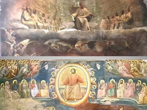 Il Giudizio Universale negli affreschi