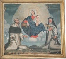 Chiesa - tela ad olio - Madonna del rosa