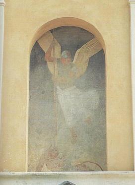 Chiesa - Affreschi Nicchie esterne - Tri