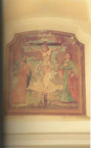 Chiesa - Affreschi - Scena della Crocifi