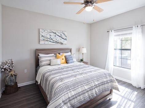 A furnished bedroom