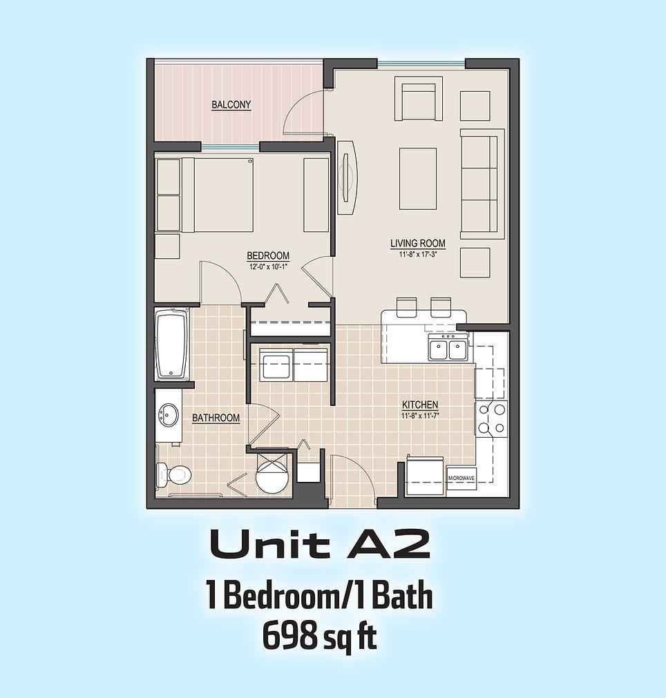 Unit A2 floorplan